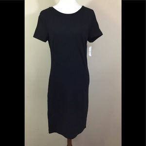 Old Navy Womens Dress Sz Medium T Shirt NWT Black
